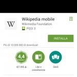 Wikipedia su mobile