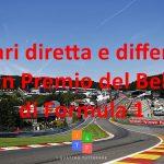 Orari diretta e differita Gran Premio del Belgio