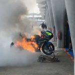 MotoGP | La Suzuki di Alex Rins è stata distrutta nella pit lane del Circuito di Sepang