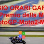 MotoGP | Modificati gli orari delle gare di MotoGP-Moto2-Moto3 a causa del maltempo