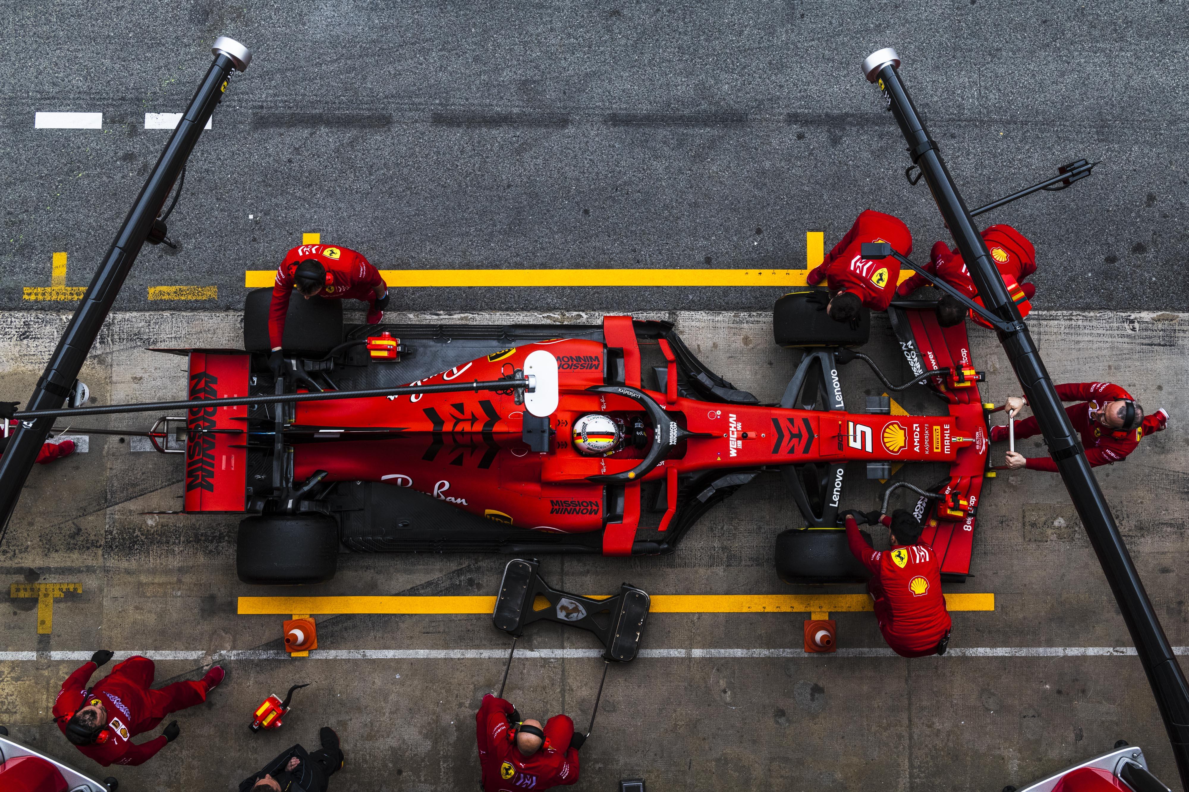 Ferrari Test Barcellona F1 Sebastian Vettel