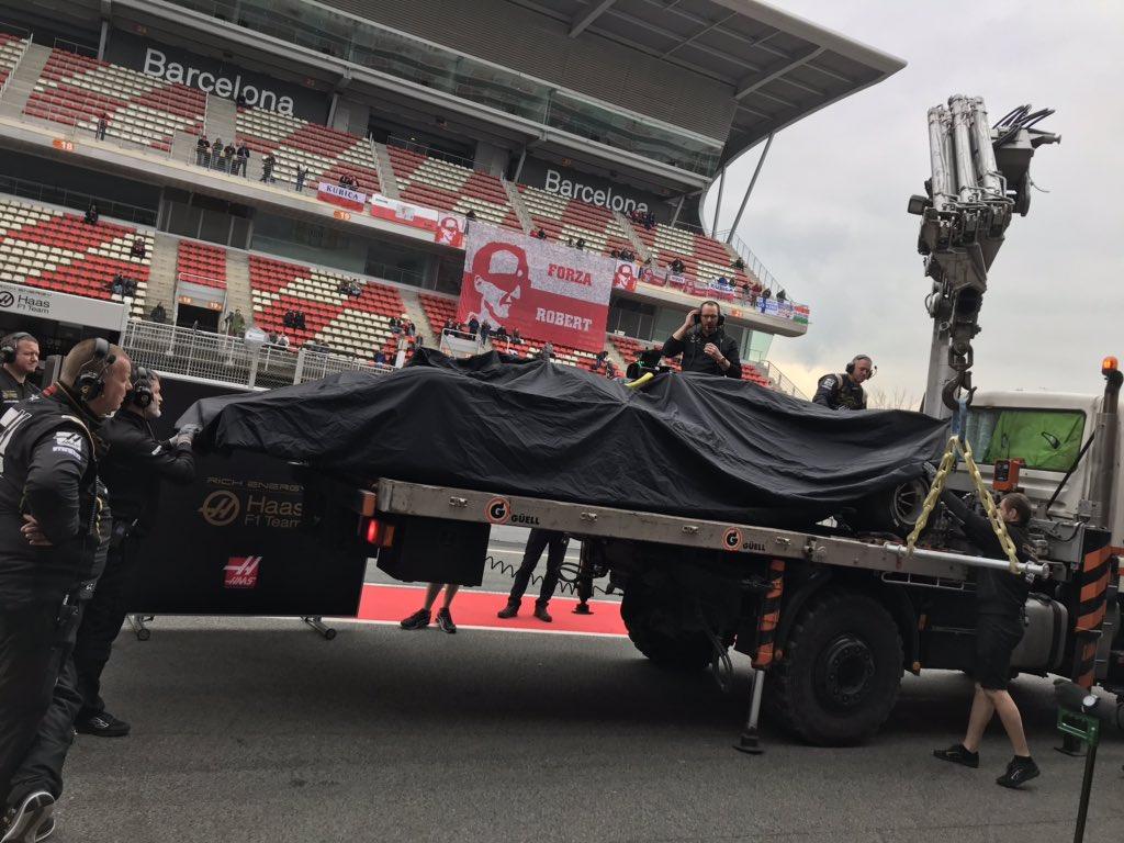 Haas Test di Barcellona