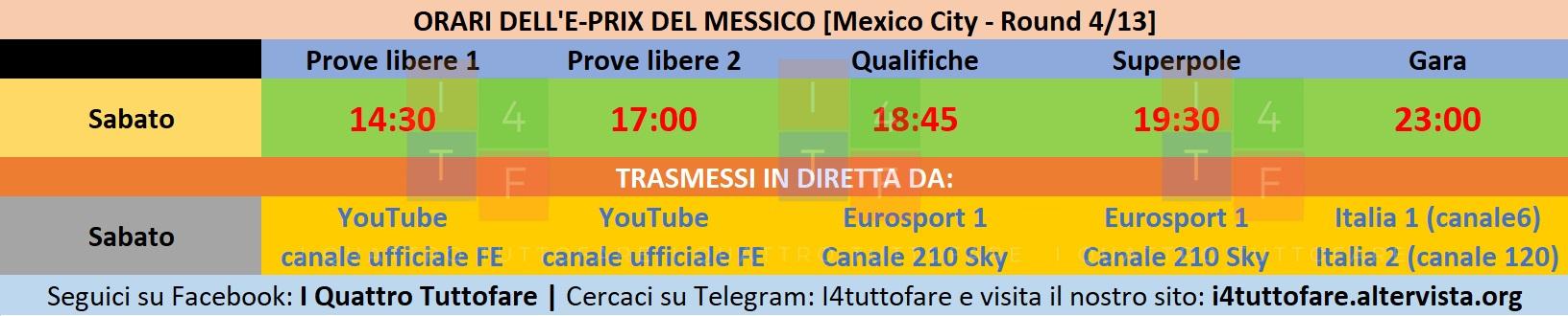 Orari E-Prix del Messico