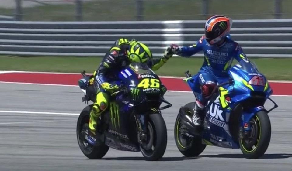 Valentino Rossi e Alex Rins